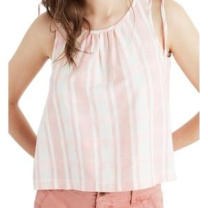 Madewell Plaid Crop Swing Tank Top Size Small